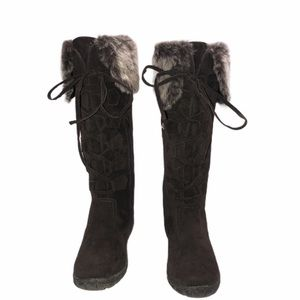 Bucco Dark Brown lace up boots